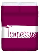 Tennessee In White Duvet Cover