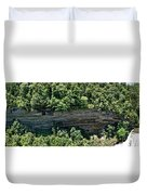Tennessee River Gorge And Waterfall Panorama Duvet Cover