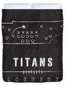 Tennessee Titans Art - Nfl Football Wall Print Duvet Cover