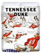 Tennessee Versus Duke 1955 Football Program Duvet Cover