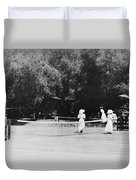Tennis Champions Sutton And Hotchkiss Duvet Cover
