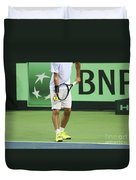 Tennis Player Duvet Cover