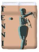 Tennis Player Pop Art Poster Duvet Cover