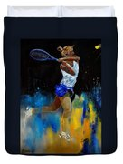 Tenniswoman 57 Duvet Cover