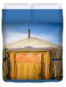 Tent In The Desert Ulaanbaatar, Mongolia Duvet Cover