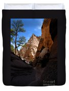 Tent Rocks Canyon Duvet Cover