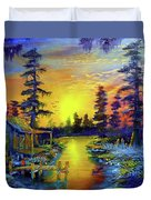 Tequila Sunrise In The Swamp Duvet Cover