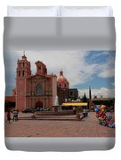Tequisqueapan Main Catherdral, Mexico Duvet Cover