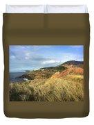 Terceira Island, Ilheus De Cabras And Lighthouse Of Ponta Das Contendas Duvet Cover by Kelly Hazel