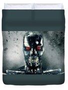 Terminator Oil Pastel Sketch Duvet Cover