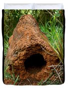 Termite Mound In Brazil Duvet Cover