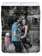 Ternopil Town Square, Ukraine Duvet Cover