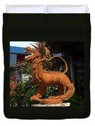 Dragon Statue Duvet Cover