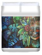 Terra Pacifica By Reina Cottier Nz Artist Duvet Cover