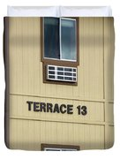 Terrace 13 Ithaca College New York Signage Duvet Cover
