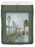 Terrace And Observation Deck At The Moulin De Blute Fin Duvet Cover