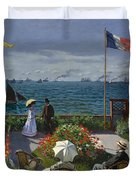 Terrace At Sainte-adresse Duvet Cover