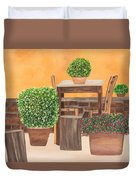 Terrace In Tuscany Duvet Cover