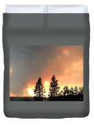 Terrace Mountain Fire 2  Duvet Cover