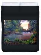 Terracotta Crossing Sold Duvet Cover by Cynthia Adams