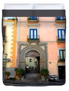 Terrazza Marziale Restaurant In Sorrento Duvet Cover