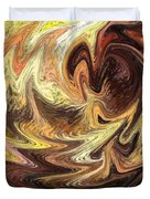 Terrestrial Flames Abstract  Duvet Cover