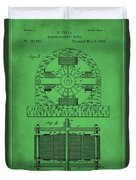 Tesla Electro Magnetic Motor Patent Drawing 2f Duvet Cover
