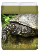 Tess The Map Turtle #2 Duvet Cover