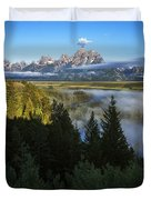 Teton Morning Snake River Overlook Duvet Cover