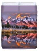 Teton Sunrise Spectacular Duvet Cover