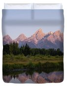 Teton Sunrise Duvet Cover