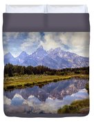 Tetons At The Landing 1 Duvet Cover