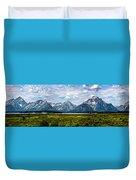 Tetons - Panorama Duvet Cover