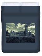 Teutonic Castle In Szymbark In Monochrome Duvet Cover