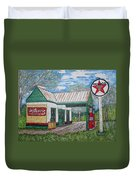 Texaco Gas Station Duvet Cover