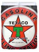 Texaco Sign Duvet Cover