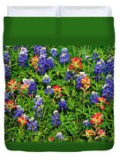 Texas Bluebonnets And Indian Paintbrush Duvet Cover