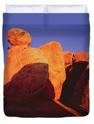 Texas Canyon Ominous Shadow Duvet Cover
