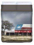 Texas Flag Barn #4 Duvet Cover