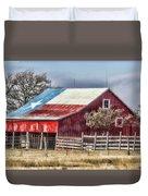 Texas Flag Barn #6 Duvet Cover