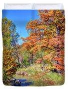 Texas Hill Country Autumn Duvet Cover