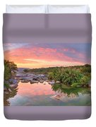 Texas Hill Country Morning Along The Pedernales 2 Duvet Cover