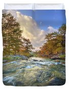 Texas Hill Country Pedernales Sunrise 1014-3 Duvet Cover