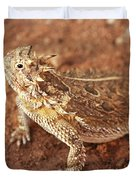 Texas Horned Lizard Duvet Cover