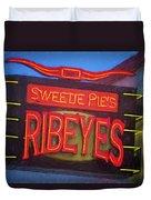 Texas Impressions Sweetie Pie's Ribeyes Duvet Cover