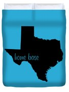 Texas Is Home Base Black Duvet Cover