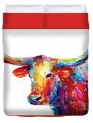 Texas Longhorn Art Duvet Cover