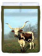 Texas Longhorn At Sunrise Duvet Cover