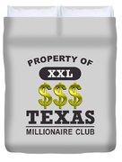 Texas Millionaire Club Duvet Cover