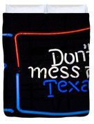 Texas Neon Sign Duvet Cover